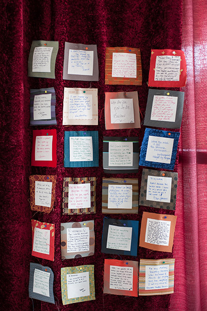 WILLO messages on fabric - photography by I CANDI Studios