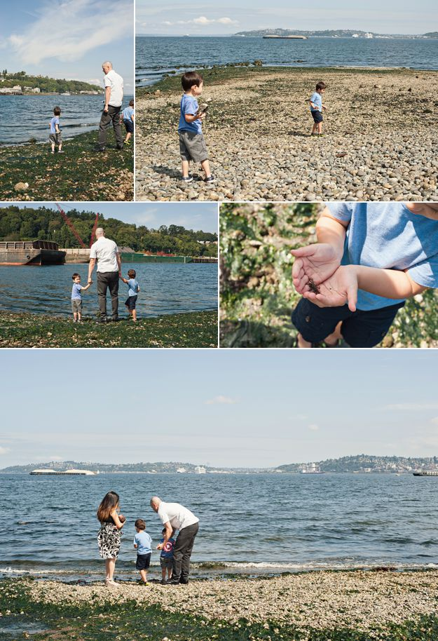 Waterfront beach. Family portraits by I CANDI Studios.